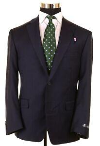 NWT Austin Reed Solid Navy Blue Wool Mens Sport Coat Jacket Blazer 42 S NEW