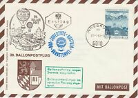 Austria 1968 Countryside Slogan Cancel Balloon Post Stamps FDC Cover Ref 28087