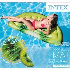 Intex Giant Inflatable 70 Inch Kiwi Slice Mat Swimming Pool Float Lounger Raft!