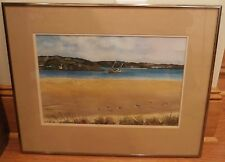 Irish Sea, Ireland Watercolor Painting- 1985-James Carlin-Listed N.J.