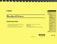 Canon Powershot G7X Mark II Camera User Guide Owner's Manual