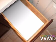 "Matte White Vinyl Contact Paper Shelf Drawer Wrap Decal 17.9"" x 54"" DIY Roll x2"