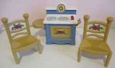 Fisher Price-Briarberry Bears-Kitchen-Stove-2 Chairs-1998-Vintage
