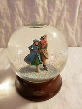 Vintage Norman Rockwell Snow Globe.The Skaters Waltz
