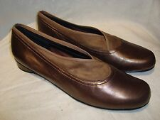 Ros Hommerson Bronze/Brown Leather Low Heel/Flats Dress Shoes 13N NEW