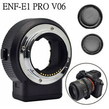 Commlite CM-ENF-E1 PRO V06 Focus Lens Adapter for Nikon F Lens to Sony E-mount