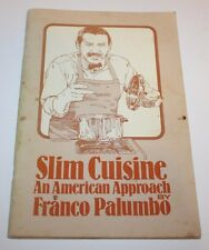 HTF Cookbook - Slim Cuisine - Franco Palumbo Chef - TV Series - Tupperware