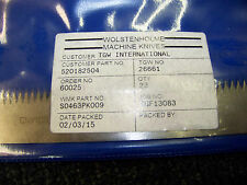 Wolstenholme Machine Knives Tgw No. 26661 Wmk # S0463Pk009 New
