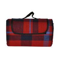 Red Tartan Waterproof Picnic Blanket / Rug CAR TRAVEL BLANKET CAMPING BEACH MAT