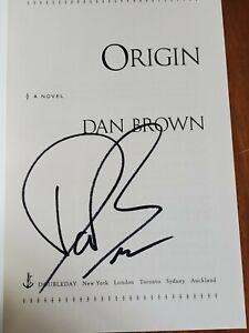 ORIGIN DAN BROWN SIGNED 1st US Edition Hardcover Doubleday