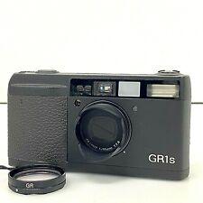 RICOH GR1s 28mm F2.8 Black 35mm Film Camera from JAPAN w/ Case Hood Filter [TK]