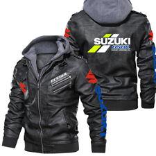 New ListingSuzuki Ecstar Motorcycles-Leather Jacket,Unisex Warm Jacket,Winter Outer Wear