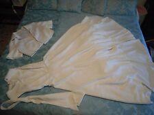 Vestito da sposa di sartoria usato, Vintage '70, con giacca corta