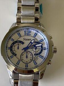 Vintage Stauer Chronograph Stainless Steel Wrist Watch