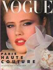 Vogue Paris # 634 March 1983 EVA JOHANSSON_SPECIAL FASHION HAUTE COUTURE