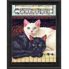 Counted Cross Stitch Kit EBONY & IVORY Cats Dimensions