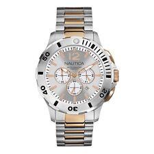 Nautica Men's N27525G BFD 101 Dive Style Chronograph Two-tone Steel Quartz Watch