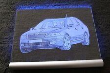Fotogravur Dein Auto auf LED-Leuchtschild individuelle Gravur von deinem Foto