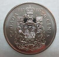 1867-1992 CANADA 50¢ HALF DOLLAR COIN BRILLIANT UNCIRCULATED