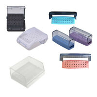 1PC Dental Plastic 24/30/60hole box Bur Case Placement Drill Disinfection Holder