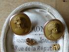 Belles Boucles d'oreilles Anciennnes Or rose 19 e  Superbes Camées Pierre Dure