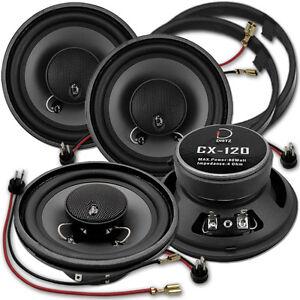 Dietz CX-120 - Koax Lautsprecher Set für Mercedes W124 Limousine vorne & hinten