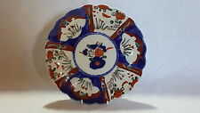 Red & blue Imari design vintage Victorian Japanese Meiji period antique plate C