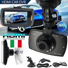 """MINI VIDEOCAMERA DVR REGISTRATORE PER AUTO HD LCD 2,7"""" 1080P SD DASH CAM INTERNA"""