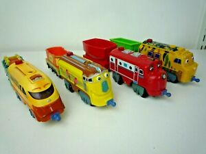 4 LARGE CHUGGINTON TRAINS WITH CARRIAGES MTAMBO,WILSON,CHUGGER & FROSTINI
