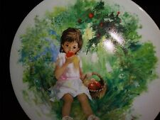 MARIE-ANGE Limoges-Turgot 1770 France Collectible Plate Paul Durand Girl Apples