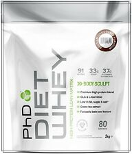 PhD Nutrition Diet Whey Protein 2 kg chocolat menthe poudre