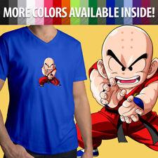 Krillin Dragon Ball Z Super Fighter DBZ Kamehameha Mens Tee V-Neck T-Shirt