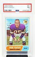 1968 Topps Minnesota Vikings PAUL FLATLEY Vintage Football Card PSA 7 NEAR MINT