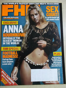 september 2002 #25 FHM Anna Kournikova cover + Angie Everhart + Jill Arrington