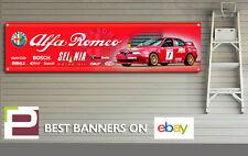 Alfa Romeo 156 BTTC Sponsor Logo Banner for Workshop, Garage, Man Cave, Large