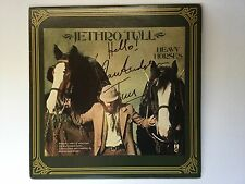 Jethro Tull heavy horses lp signed by Ian Anderson