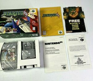 Star Fox 64 (Nintendo 64, 1997) Complete Tested Working With Rumble Pak #0980