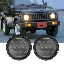 "2x7"" Inch 75W White DRL LED Headlights For JEEP Wrangler JK TJ YJ Suzuki Samurai"