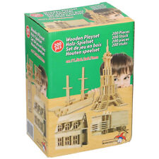 Costruzioni 200 Blocchi Mattoncini in Legno Costruzione Giocattolo per Bambini