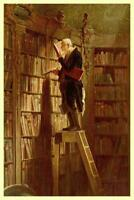 Carl Spitzweg The Bookworm - Poster 24x36 inch