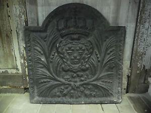 Plaque en fonte / Plaque de fond de cheminée