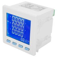LCD Digital 3-phasig Stromzähler Voltmeter Spannung KWH Wattmeter 400VAC 5A NEU
