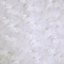 Dollhouse Floor Decor Flocking Rose Carpet Rug White Miniature Accessories