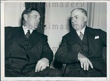 1937 American Bankers Assoc Orval Adams & FN Shepherd in Boston Press Photo