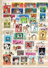 TIMBRES   lot de+ 40 timbres oblitérés thème j o été