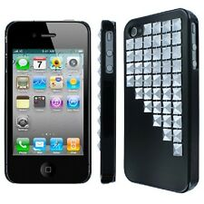 Lot of 10 Brand New Iphone 4/4S Slim Fit Studded Glossy Black Case