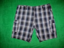 Men's Beverly Hills Polo Club Big & Tall Multi Color Plaid Cargo Shorts 48 x 11