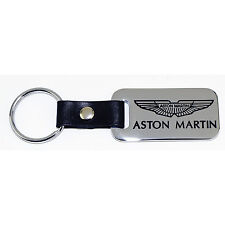 Aston Martin Key Chain Fob - Chrome with Leather Strap - Engraved - USA  Quality