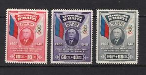 Haiti 1939 Complete Set - OG MH - SC# B1, CB1-CB2  Cats $77.50