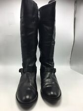 VINCE CAMUTO Black Leather Harness Riding Tall Riding Boots Size 11 Medium